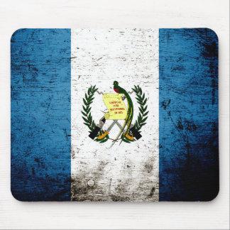 Black Grunge Guatemala Flag Mouse Pad