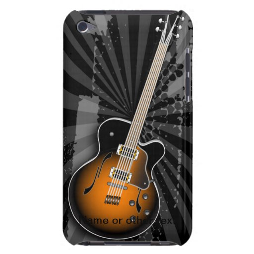 Black Grunge Guitar Burst iPod Case-Mate Cases