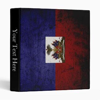 Black Grunge Haiti Flag Binder