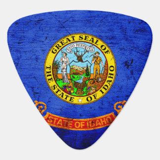 Black Grunge Idaho State Flag Guitar Pick