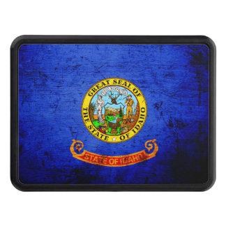Black Grunge Idaho State Flag Hitch Cover
