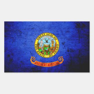 Black Grunge Idaho State Flag Stickers