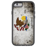 Black Grunge Illinois State Flag Tough Xtreme iPhone 6 Case