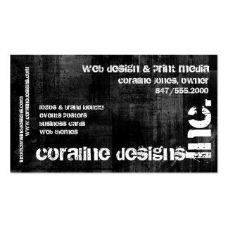 black grunge, Inc. business card