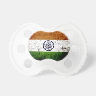 Black Grunge India Flag Pacifier