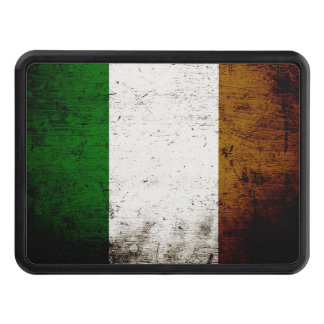 Black Grunge Ireland Flag Tow Hitch Cover