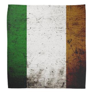 Black Grunge Ireland Flag Bandana