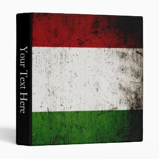 Black Grunge Italy Flag Binder