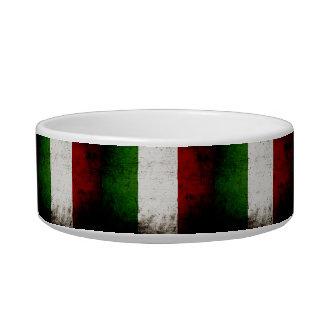 Black Grunge Italy Flag Bowl