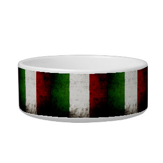 Black Grunge Italy Flag Bowl