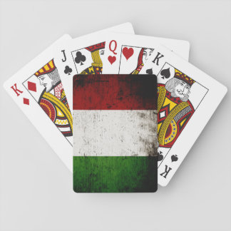 Black Grunge Italy Flag Deck Of Cards