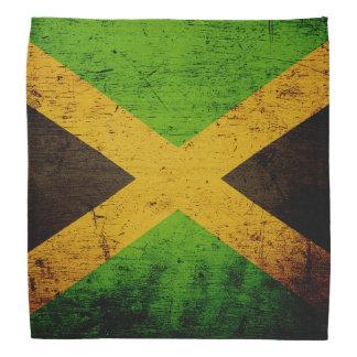 Black Grunge Jamaica Flag Bandana