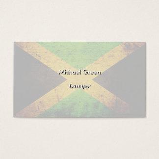 Black Grunge Jamaica Flag Business Card