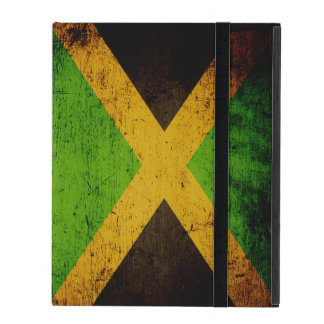 Black Grunge Jamaica Flag iPad Cover
