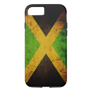 Black Grunge Jamaica Flag iPhone 7 Case