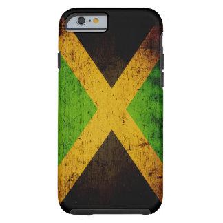 Black Grunge Jamaica Flag Tough iPhone 6 Case