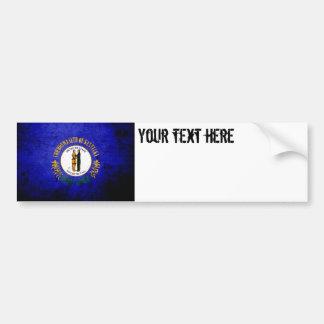 Black Grunge Kentucky State Flag Bumper Sticker