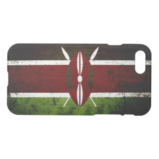 Black Grunge Kenya Flag iPhone 7 Case