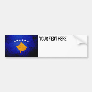 Black Grunge Kosovo Flag Bumper Sticker