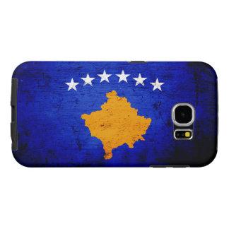 Black Grunge Kosovo Flag Samsung Galaxy S6 Cases