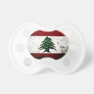 Black Grunge Lebanon Flag Pacifier