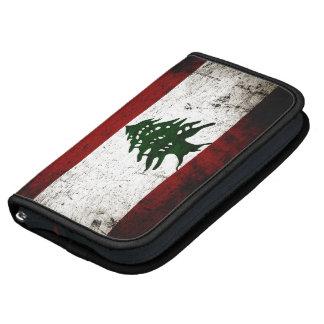 Black Grunge Lebanon Flag Organizers