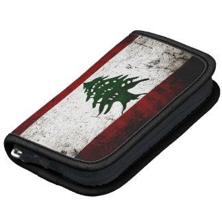 Black Grunge Lebanon Flag Organizer