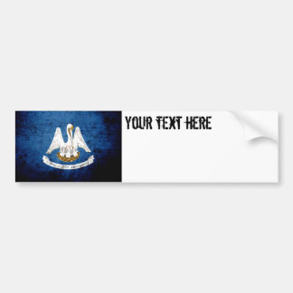 Black Grunge Louisiana State Flag Bumper Sticker