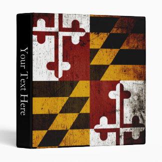 Black Grunge Maryland State Flag Binder
