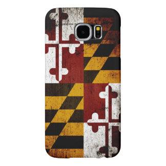 Black Grunge Maryland State Flag Samsung Galaxy S6 Case
