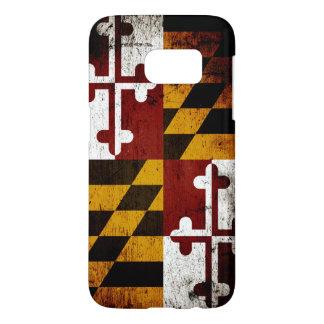 Black Grunge Maryland State Flag Samsung Galaxy S7 Case