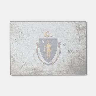Black Grunge Massachusetts State Flag Post-it® Notes