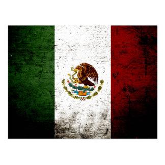 Black Grunge Mexico Flag Postcard