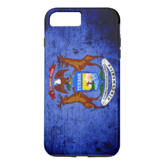 Black Grunge Michigan State Flag iPhone 7 Plus Case