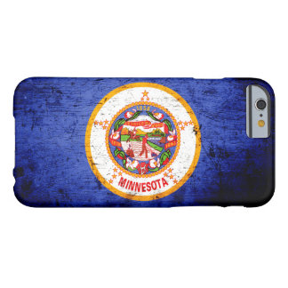Black Grunge Minnesota State Flag Barely There iPhone 6 Case