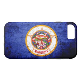 Black Grunge Minnesota State Flag iPhone 8/7 Case
