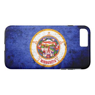 Black Grunge Minnesota State Flag iPhone 8 Plus/7 Plus Case