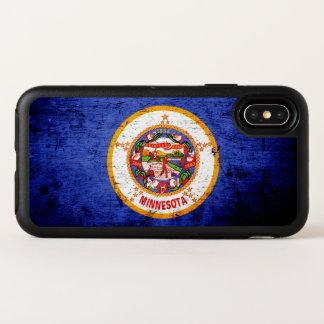 Black Grunge Minnesota State Flag OtterBox Symmetry iPhone X Case