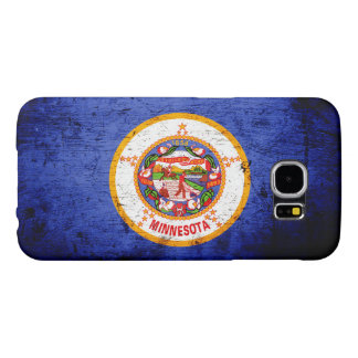 Black Grunge Minnesota State Flag Samsung Galaxy S6 Case