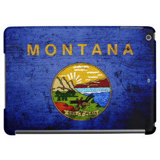 Black Grunge Montana State Flag iPad Air Covers