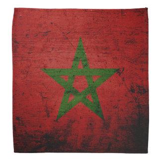 Black Grunge Morocco Flag Bandana