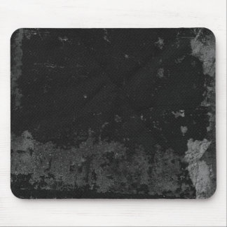 Black Grunge Mouse Pad