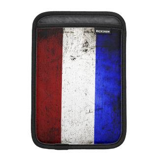 Black Grunge Netherlands Flag Sleeve For iPad Mini
