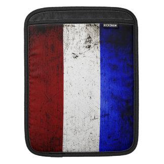 Black Grunge Netherlands Flag Sleeve For iPads