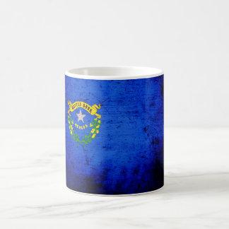 Black Grunge Nevada State Flag Coffee Mug