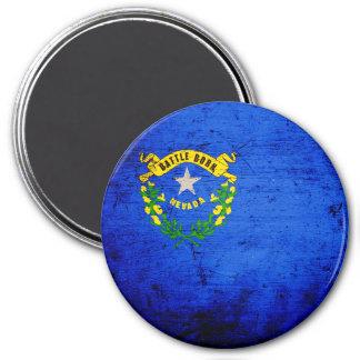 Black Grunge Nevada State Flag Magnet