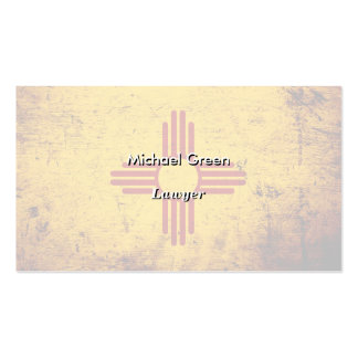 Black Grunge New Mexico State Flag Double-Sided Standard Business Cards (Pack Of 100)