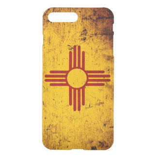 Black Grunge New Mexico State Flag iPhone 7 Plus Case