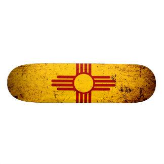 Black Grunge New Mexico State Flag Skateboard
