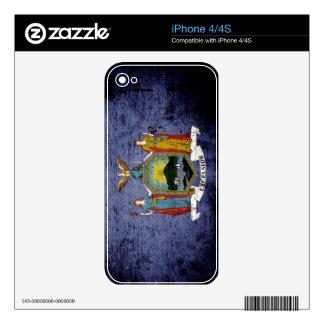 Black Grunge New York State Flag Skins For iPhone 4